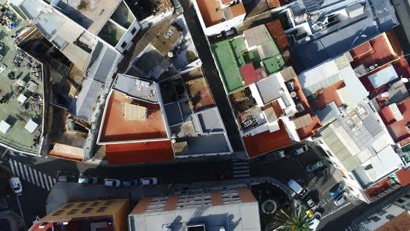 Thumbnail for Rooftops From Above Flying Away