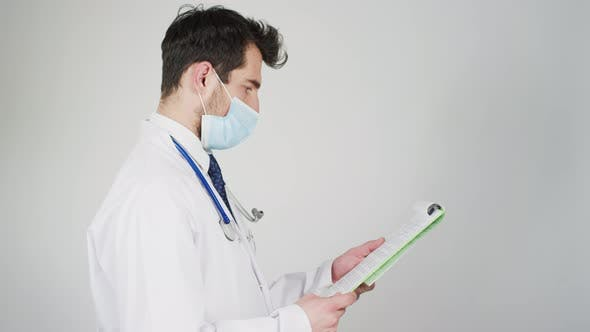 Thumbnail for A doctor reading