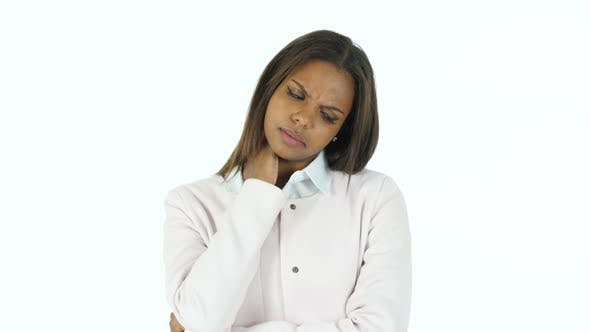 Thumbnail for Tired Afro-American Woman Relaxing Neck Muscles