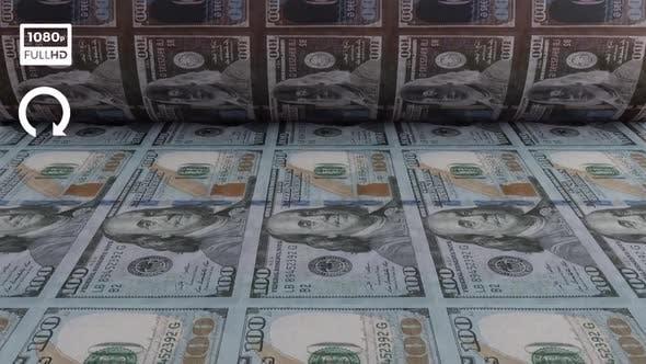Dollar Money Printing Machine Front View