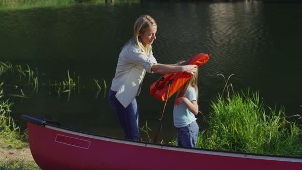 Thumbnail for Children getting life jackets on