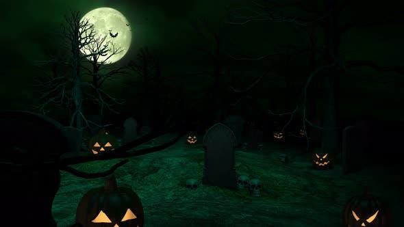 Grüne Nacht Halloween Grab 4k