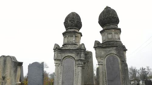 Old headstone monuments