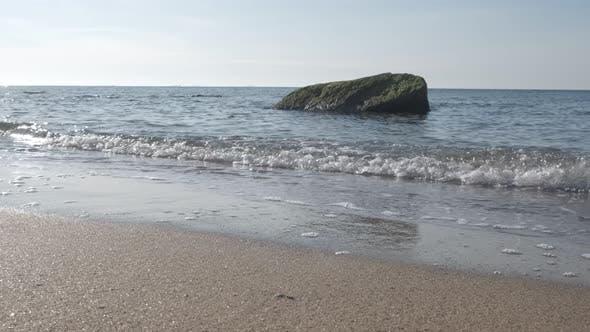 Thumbnail for Sea Surf. Seashore with Stones