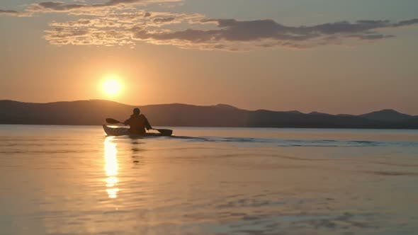 Thumbnail for Calming Paddling Exercise at Sunset