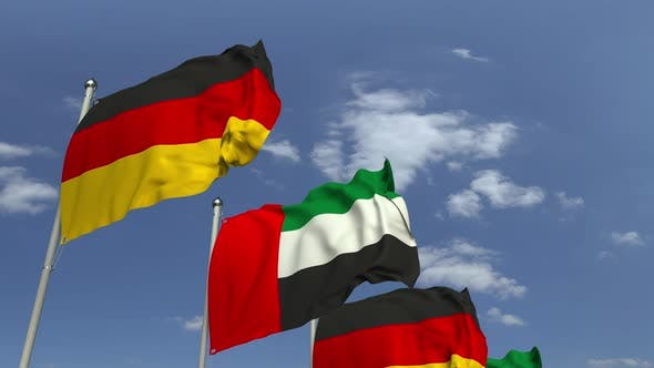 Thumbnail for Flags of the UAE and Germany
