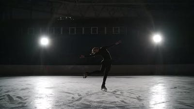 Skater Training at the Indoor Ice Rink