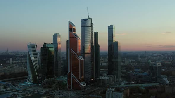 Thumbnail for Aerial Moscow Cityscape with Business Centre, Russia