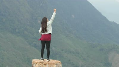 Victory Woman At The Top