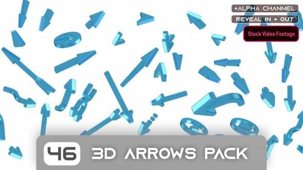 46 3D Arrows Footage Pack