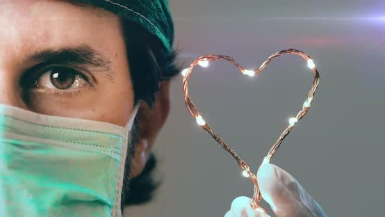 Doctor with Heart Symbol