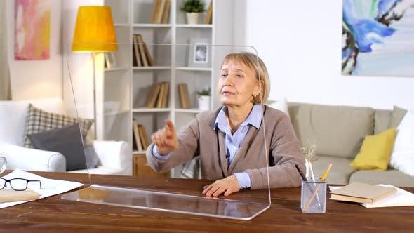 Thumbnail for Senior Woman Using Invisible AR Display