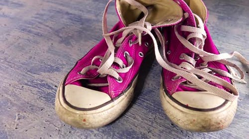 Dirty Old Sneakers and Shoelaces