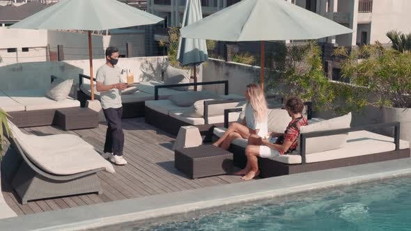 Thumbnail for Young Couple Chilling on Terrace