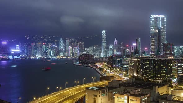 Thumbnail for Hong Kong at Night Time Lapse