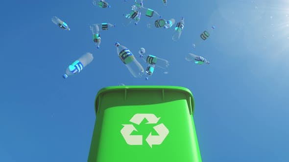 Thumbnail for Chock-full Garbage Container Opens and Plastic Bottles Fall out from the Bin