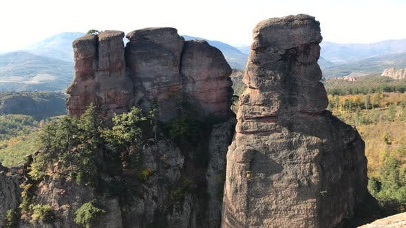 Thumbnail for Famous group of rocks near town of Belogradchik  4K 2160p 30fps UltraHD footage - Sandstone and cong