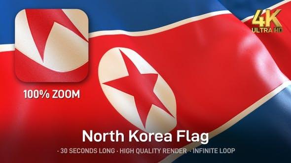 Thumbnail for North Korea Flag - 4K