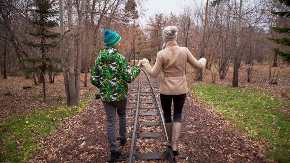 Walk Along The Rails