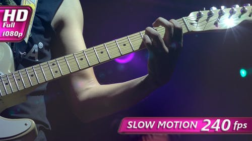 Electric Guitar on Stage