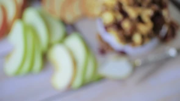 Thumbnail for Caramel nut and cranberry brie appetizer for Christmas party.