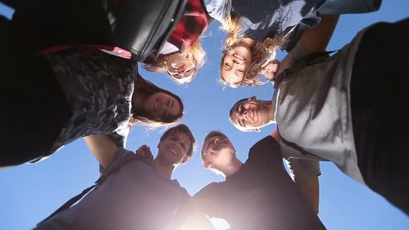Thumbnail for Smiling Group of Teenage Friends in Circle