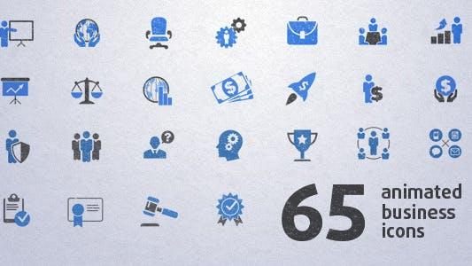 Thumbnail for 65 Íconos animados Negocios