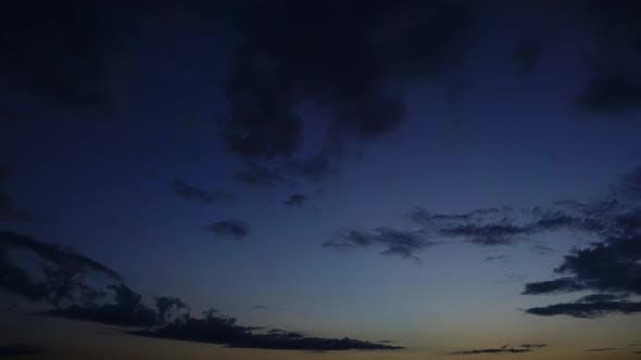 Thumbnail for Timelapse with Dramatic Red Sunset on Cloudy Sky