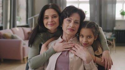 Portrait Of Beautiful Multigenerational Women