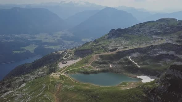 Aerial View of Augstsee Lake on Loser Mountain, Austria