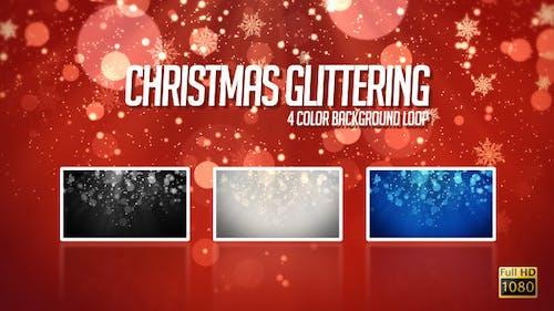 Weihnachten glitzernd