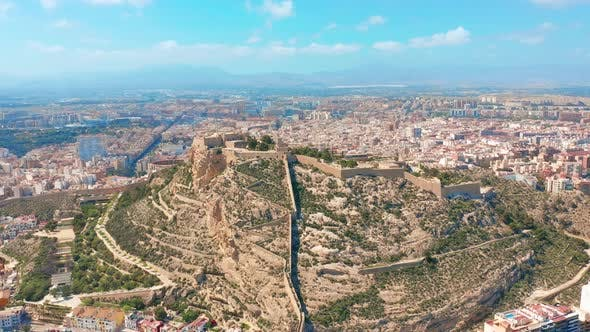 Thumbnail for Aerial View of the Santa Barbara Castle in Alicante, Spain