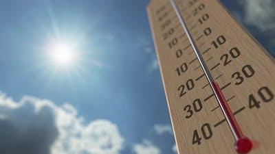 Outdoor Thermometer Reaches 0 Zero