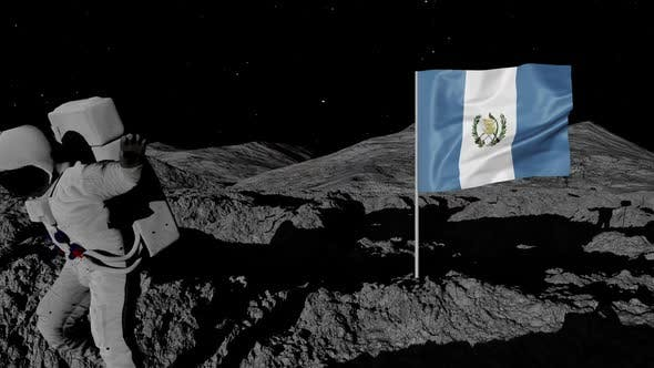 Thumbnail for Astronaut Planting Guatemala Flag on the Moon