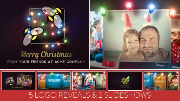 Thumbnail for Christmas Lights Logo & Slideshow