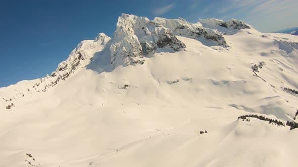 Thumbnail for Lincoln Peak Mt Baker Black Buttes Thunder Glacier Bowl Aerial Landscape Awe Inspiring View