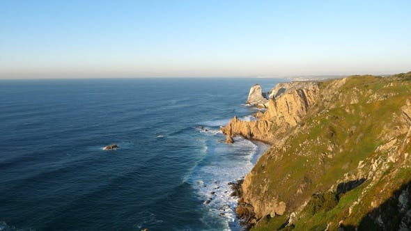 Thumbnail for The cliffs of Cabo da Roca Portugal. The westernmost point