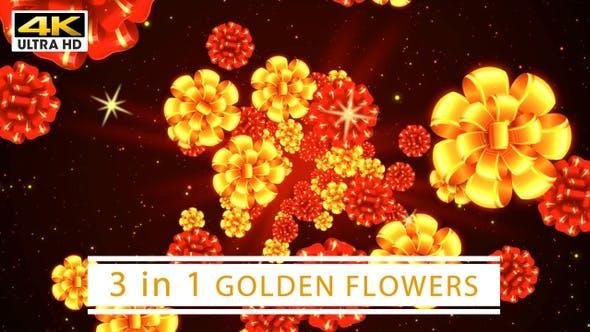 Thumbnail for Golden Flowers 4K