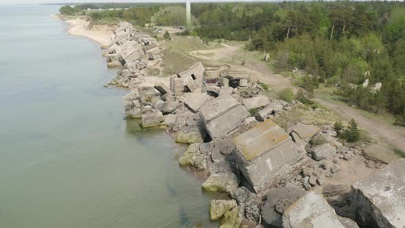Thumbnail for Ruins Of A Fortified Coastal Defence Bunker after Bombardment