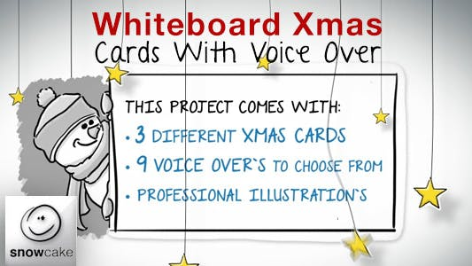Thumbnail for Whiteboard Xmas Cards With Voice Over