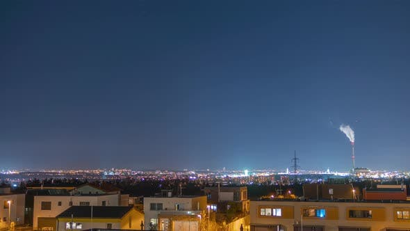 Cover Image for A Time Lapse of a View From Suburban Area As It Overlooks Cities in the Background.