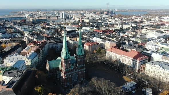 Thumbnail for Flycam Films Amazing Panorama of Helsinki with Church