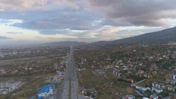Panoramic View Of The Ring Road Of The City Of Sofia In Bulgaria