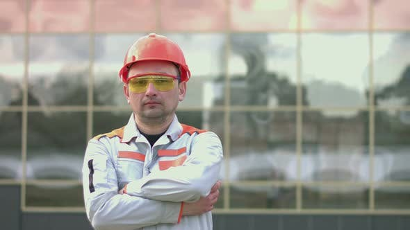 Portrait of an Engineer or Builder.