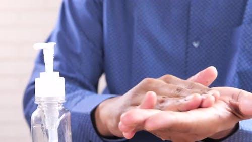Using Sanitizer Liquid for Preventing Corona Virus