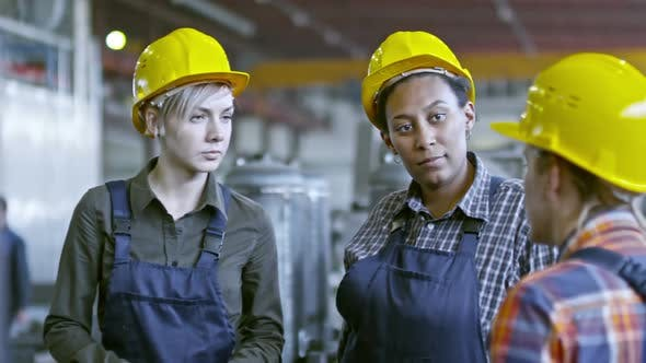 Thumbnail for Female Engineers Having Meeting at Factory