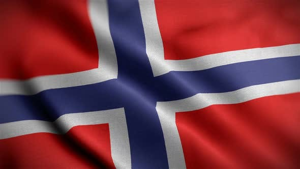 Thumbnail for Norway Flag Closeup Blowing In Wind