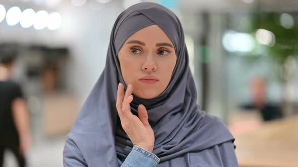 Thumbnail for Young Arab Woman Thinking About Something
