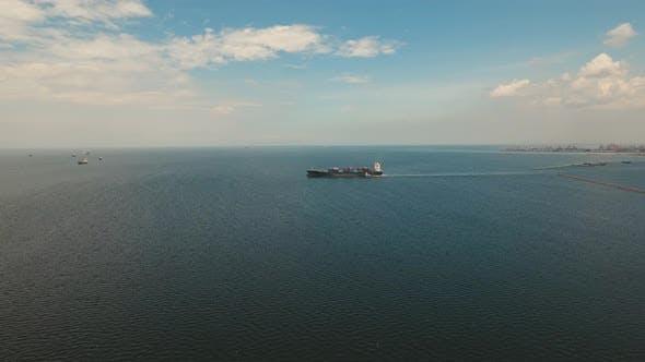 Cargo Ships in the Bay Manila