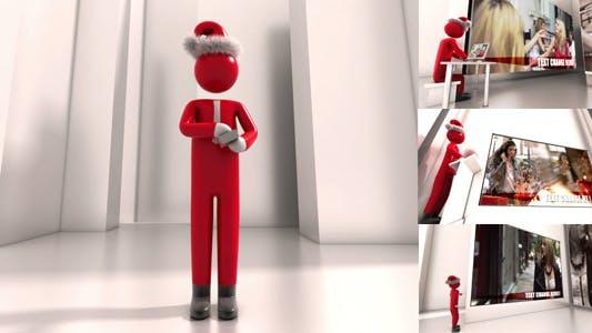 Christmas Greetings With Businessman
